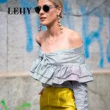 光沢がある金カラー球の女性のための長い低下イヤリングが付いている新しいデザイン盛り土