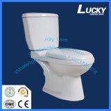 Cuvette de toilette séparée en céramique de carte de travail/siège des toilettes en deux pièces de carte de travail lavage à grande eau de salle de bains