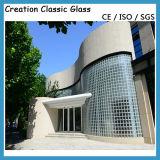 Ясный стеклянный блок для Decroration, ванная комната, стеклянная стена