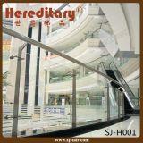 Trilhos de vidro internos da escada de SUS304 e de madeira 316 (SJ-H004)