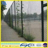 PVC緑フィールド保護のための上塗を施してある装飾的なチェーン・リンクの塀