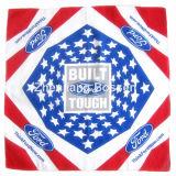 OEMの農産物はデザインロゴによって印刷された昇進の綿ヘッド覆いのスカーフをカスタマイズした
