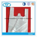 Saco plástico personalizado HDPE do t-shirt da impressão para a compra
