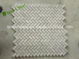 Azulejo de mármol gris de madera de la pared del suelo de mosaico de /White
