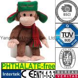 Het zachte Gevulde Dierlijke Stuk speelgoed van de Pluche van de Aap van de Hoed GLB van Kerstmis