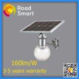 luces de calle solares al aire libre de 1800lm 12W LED con la batería de litio