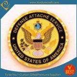 Pièce d'or faite sur commande de souvenir de récompense de marine d'OEM