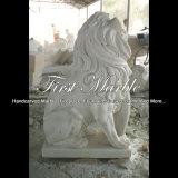 Leone di pietra bianco per la decorazione domestica Ma-1004