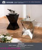 Espelho de prata desobstruído decorativo Polished redondo da forma lisa