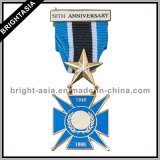 주문 군은 수여한다 리본 (BYH-10837)를 가진 금속 메달을