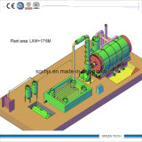 5ton Pyrolyse Plastic Plant Refining Plastic Usado
