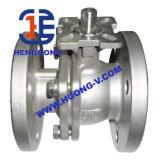Valvola a sfera pneumatica della flangia dell'acciaio inossidabile 304 di DIN/API 2PC