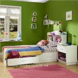 Insieme di camera da letto di legno di immagazzinaggio dei 4 capretti bianchi puri della parte