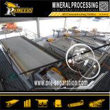 Processamento de minério da mineração da pequena escala agitando o equipamento de mineração do ouro da tabela