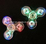 Girador da inquietação do diodo emissor de luz do cristal com três o diodo emissor de luz Switchs e jogador de música