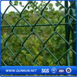 Горячая окунутая гальванизированная загородка звена цепи