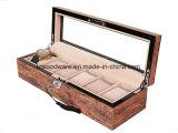 De antieke Bruine Piano beëindigt de Houten Doos van het Horloge
