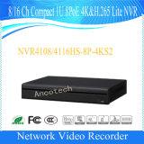 Dahua 8/16 채널 조밀한 1u 8poe 4k&H. 265 라이트 감시 NVR (NVR4108HS-8P-4KS2)