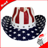 Chapéu da bandeira americana chapéu de vaqueiro chapéu de palha chapéu de palha