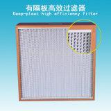 Fresca sintético profundo del plisado H13 HEPA filtros de aire de alta eficiencia con el separador