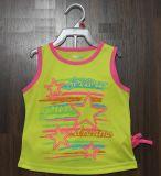 女の子の美しいスポーツセットは100%Polyesterの作る