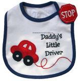 Customized Cute Design Brodé Baby Girl's Cotton Terry Bavettes promotionnelles pour bébé Drooler Pinafore