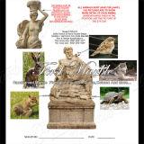 Hand-Geschnitzte antike Travertin-Skulptur für Garten-Dekoration Ms-914