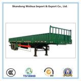 40t de Semi Aanhangwagen van de Vrachtwagen van de zijgevel met 3 Assen voor het Vervoer van de Lading