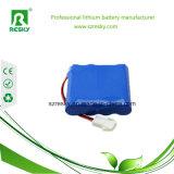 bloco da bateria de 11.1V 3400mAh para a lanterna elétrica, lâmpadas do diodo emissor de luz