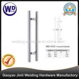 Traitement en verre Wd-1010 de traction de porte de tuyauterie ronde en acier de Stainlesss