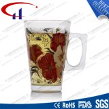 220ml Hot Sell Decaled Glass Water Mug (CHM8078)