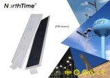 Réverbères solaires de DEL avec le panneau monocristallin de silicium du détecteur de mouvement 120 W