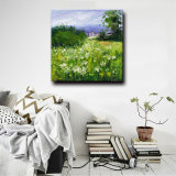 Factory Directly Wholesale Landscape Flower Field Handmade Oil Painting