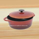 エナメルの中国からの楕円形の鋳鉄のカセロールの鍋の製造業者