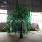 Diodo emissor de luz iluminado Indoor para fora Door Artificial Christmas Tree Lights de Willow Tree Real Look Trunk