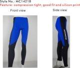Medias de encargo cabidas yoga de Evapor del Triathlon de las mujeres del negro corriente de la gimnasia (YE14210)
