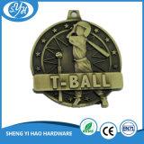 Медаль теннисного мяча сувенира бронзы Antique сплава цинка