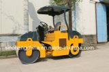 Rolo de estrada Vibratory Yzc3 do cilindro dobro de 3 toneladas