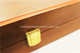 Ensemble de backgammon en bois de laque mate de 18 po