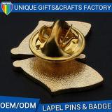 カスタマイズされた形の金属のバッジの折りえりPin