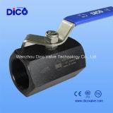 1PC Reducir la válvula de bola de acero al carbono Diámetro Hexágono