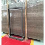 Плитки Китая серым деревянным отполированные мрамором для плакирования настила и стены