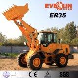 Everun 2017 Er35 pouvoir grand de chargeur de construction hydraulique de 3 tonnes avec la vitesse électronique d'engine d'Euroiii