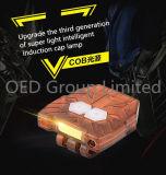 USB Rechargeble LED 어업 난조를 위한 소형 빛 LED 감응작용 모자 램프