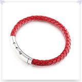 De Armband van het Leer van de Juwelen van het Leer van de Juwelen van het roestvrij staal (LB030)