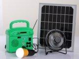 Sistema solar solar de la iluminación del LED con la radio de FM Cargador del USB Teledirigido Jugador de la tarjeta del SD
