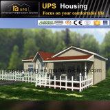 Casa de campo fácil do recipiente de painel do EPS da instalação do baixo custo