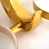 Держатель Tumbler ванной комнаты латунный золотистый классицистический двойной для гостиницы Decor