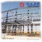 Almacén prefabricado ligero de la estructura de acero en Europa