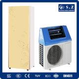 Salvar el poli 5.32 5kw, 7kw, 9kw 220V, cuarto de baño solar híbrido máximo de la cena de la potencia del 80% de la bomba del calentador de agua de la pompa de calor del aire de R410A 60deg c Dhw
